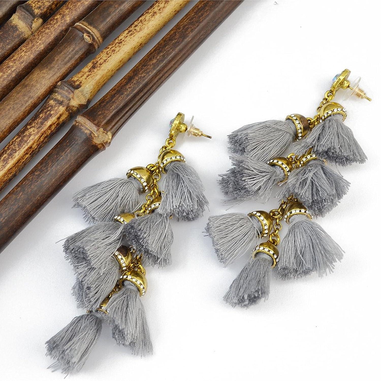 Idealway Handmade Exaggerated Gemstone Earrings Image 3
