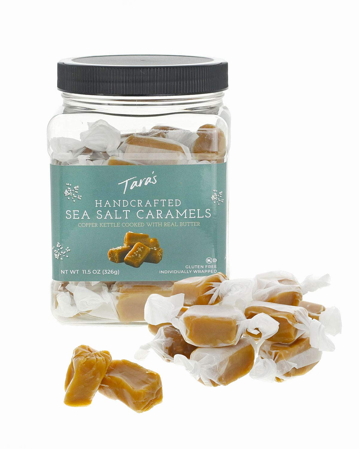 Tara's All Natural Handcrafted Gourmet Sea Salt Caramel: Small Batch, Kettle Cooked, Creamy & Individually Wrapped - 11.5 Ounce by Tara's (Image #4)