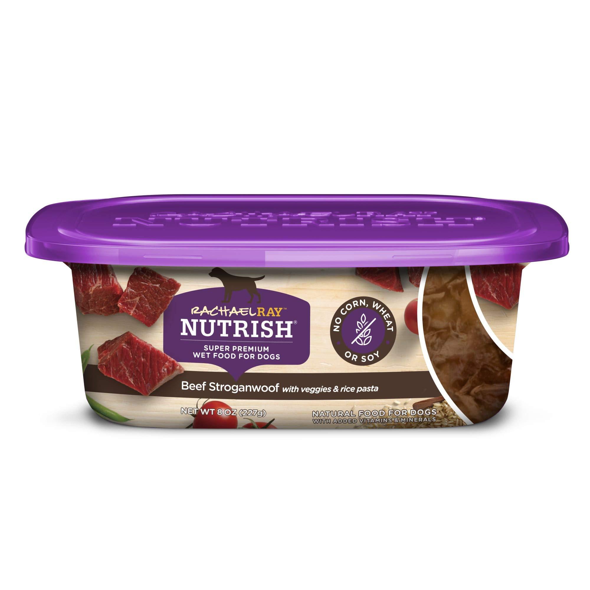 Rachael Ray Nutrish Premium Natural Wet Dog Food, 8 Ounce Tubs