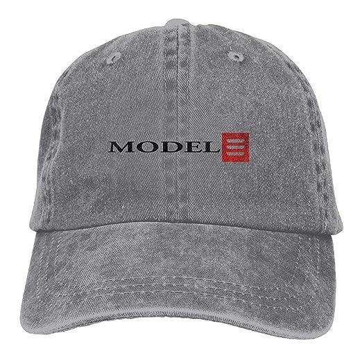 Amazon.com  NEST-HOMER Unisex Tesla Model 3 Red Logo Baseball Cap Cowboy Hat  Adjustable Snapback Adult  Clothing ebeeaeb7c62