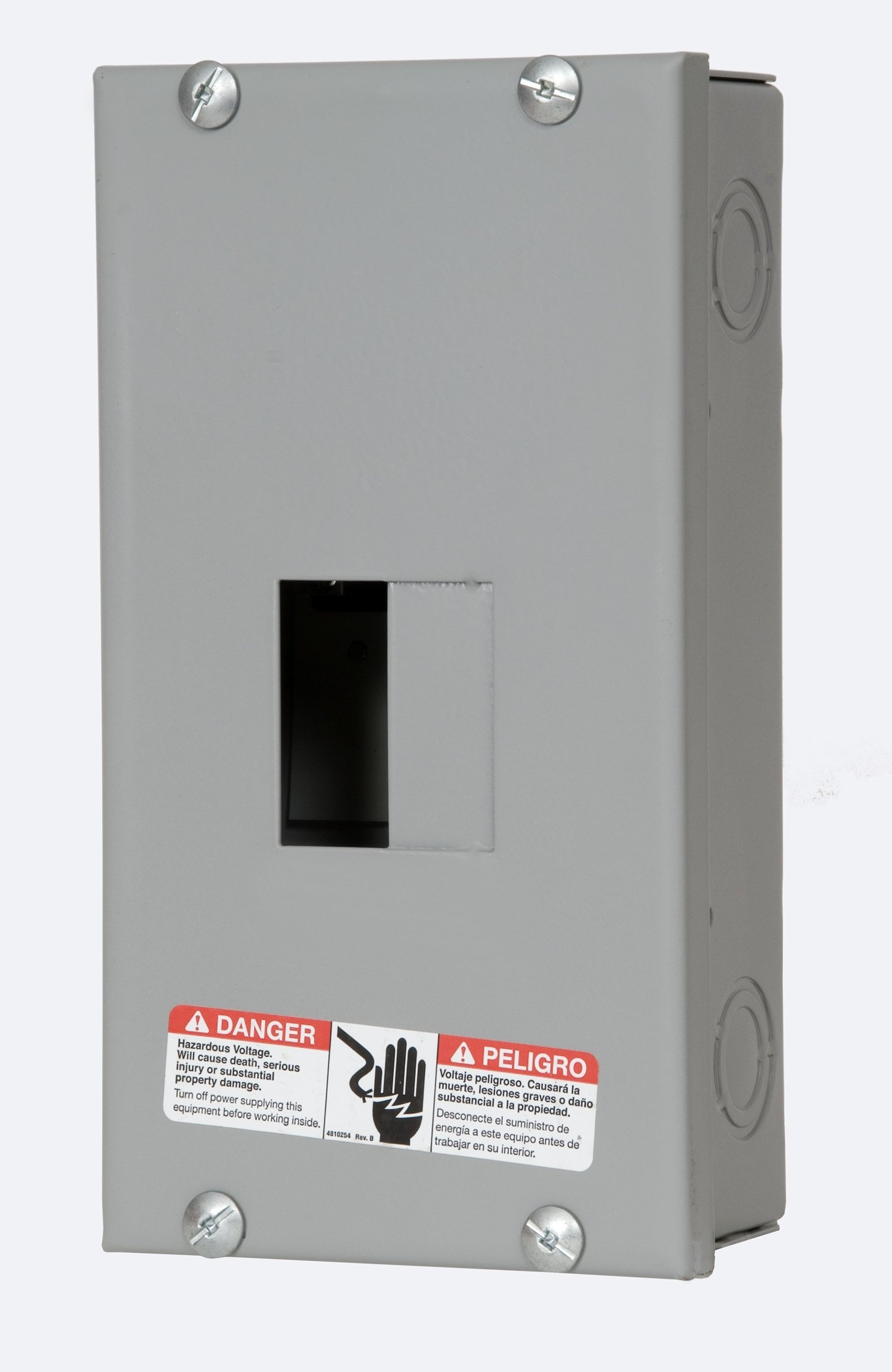 Murray LC002HS Load Center, 3 Space, 4 Circuit, 125A Main Lug, Indoor, Surface mount