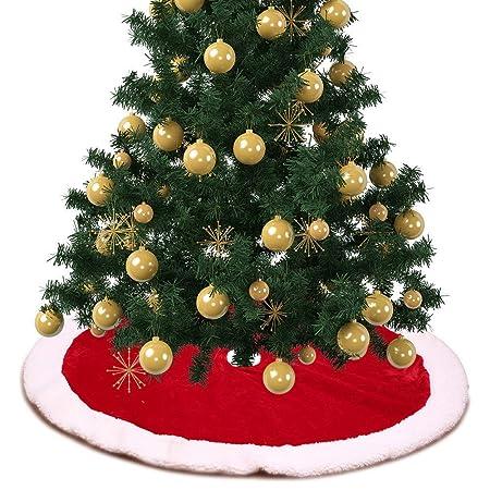 Árbol de Navidad Faldas Falda Grande Del Árbol De Navidad Rojo ...