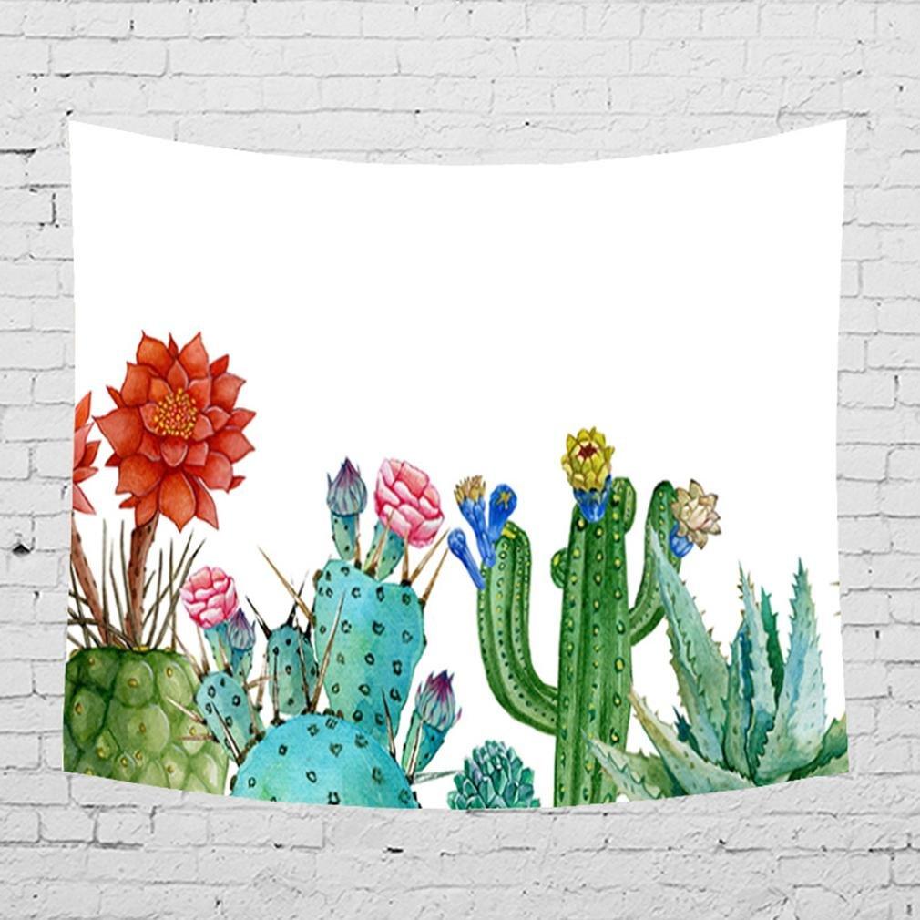 GUTN Kaktus Dekor Tapisserie Hippie Wandbehang Wohnkultur für Weihnachten Bettdecke Strand Werfen, D, 203x150 B07FCDJZCS Duschmatten