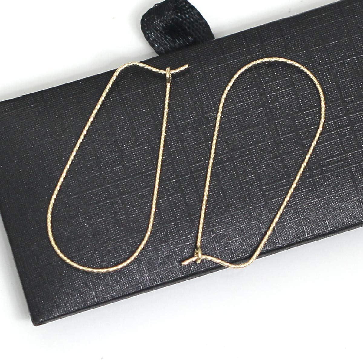 beadsnice 14K Gold Filled Kidney Ear Wires Hoop Earrings Jewelry Findings 16X0.51mm