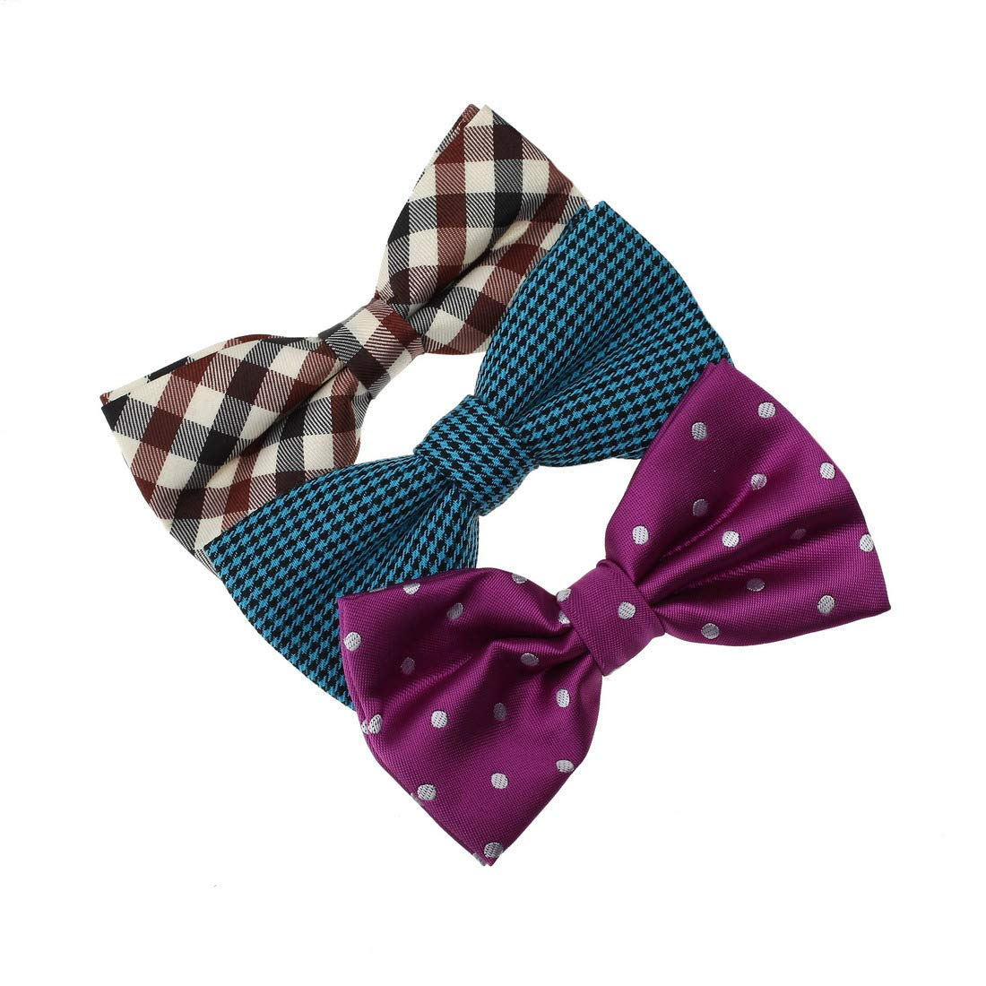 DBE0135 Find For Marriage Microfiber Bow ties Gift For Boy 3 Pack Bow Tie Set By Dan Smith