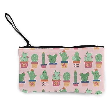 Amazon.com: Monedero de lona, diseño de cactus, bolsa de ...
