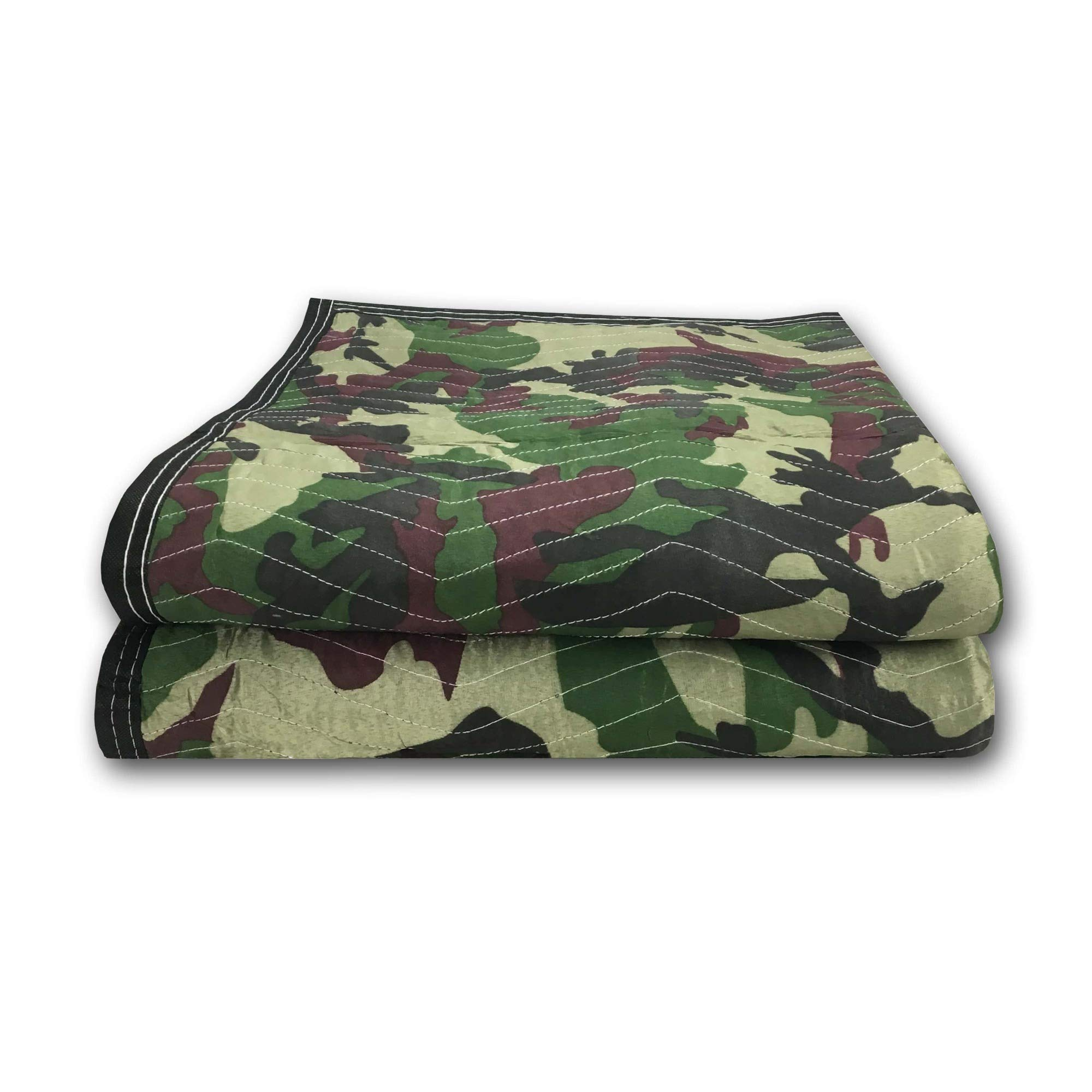 Uboxes A0065CA02 Camo Moving Blankets 65lbs/doz, ((2 Pack)