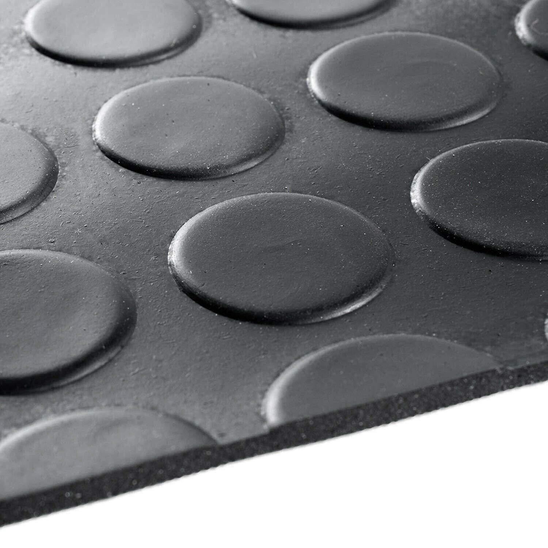 resistente varios tama/ños Alfombra antideslizante de goma para cubrir el suelo color negro