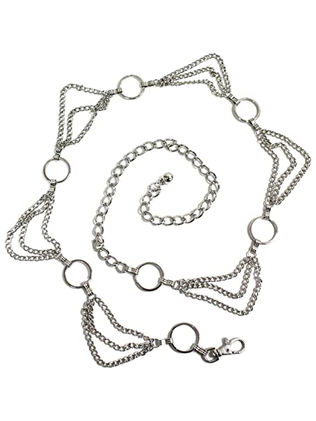 Draped Triple Layer Body Chain Link Silver Belt At Amazon Womens