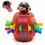 SPADORIVE Tricky Pirate Fun Barrels Party Favor Jump Up Game Sword Pirate Bucket - Pirate Crisis Sword Stabbed Game Barrel Bucket Crisis Romance and Whimsy Toy
