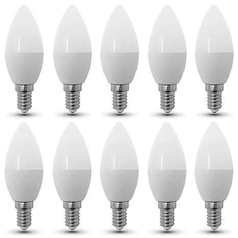 Conjunto de 10 - ZONE LED SET - E14-3W - Bombilla LED Vela -