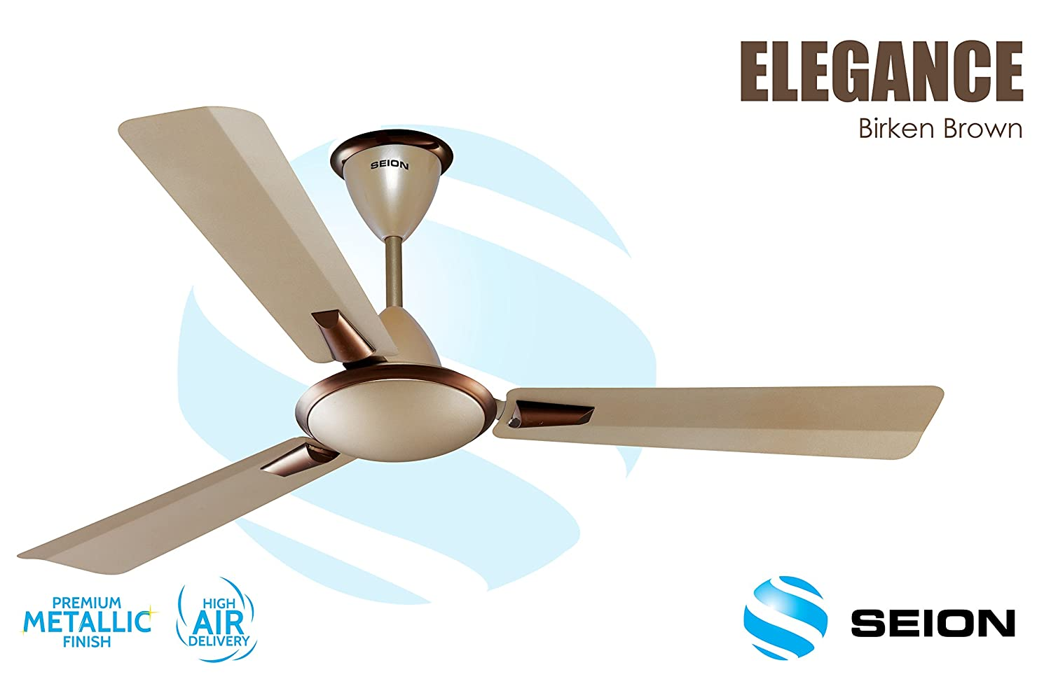 Seion Ceiling Fan Elegance Birken Brown 1200 Mm At Low S In India