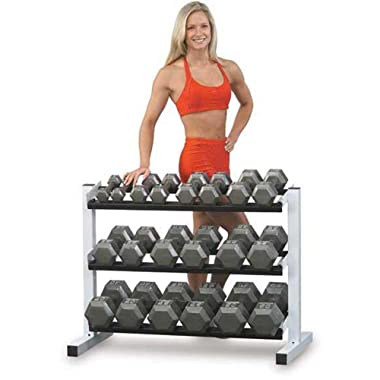 Body-Solid SDS550 5-50-Pound Grey Hex Dumbbell Set