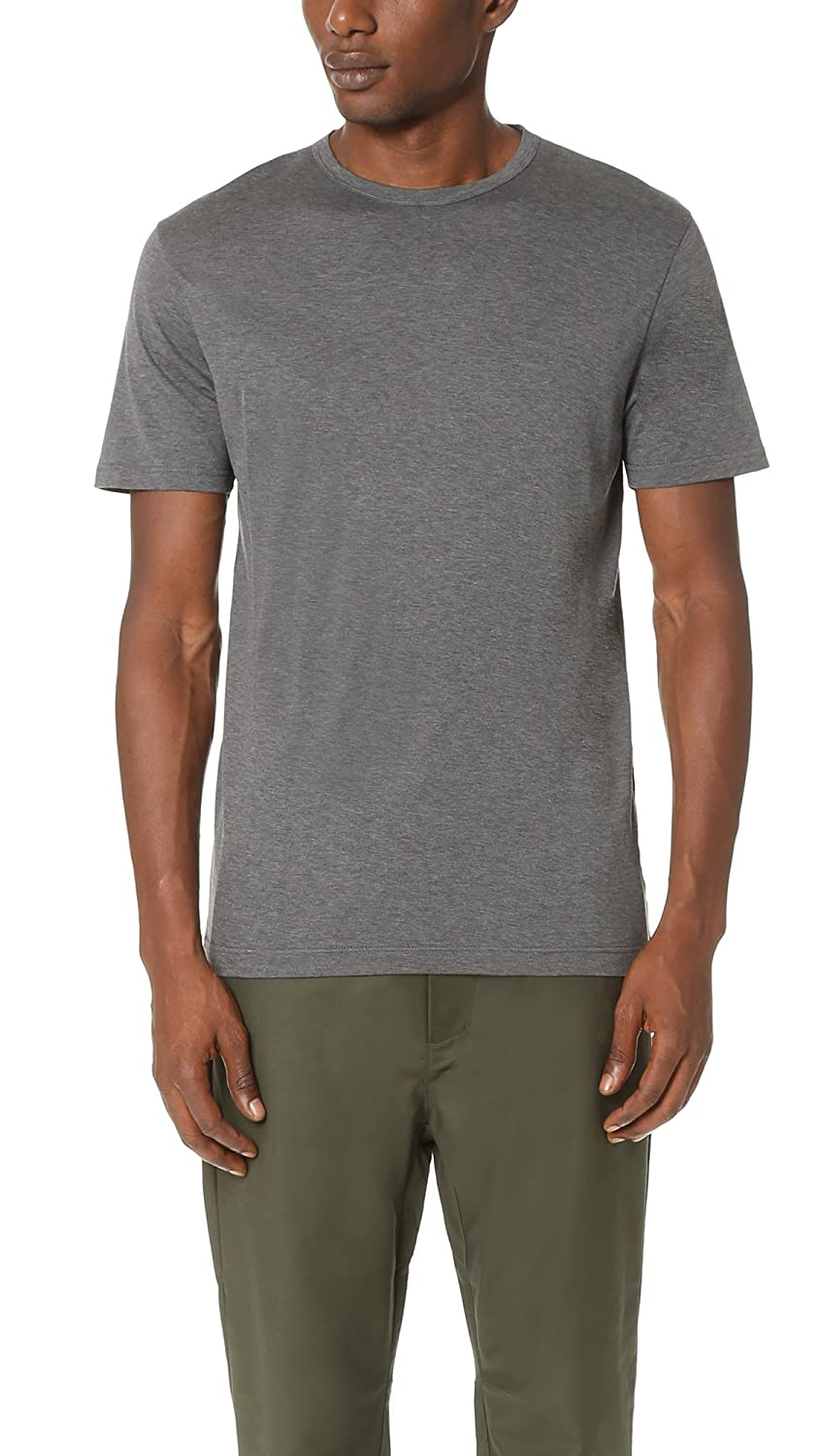 44a54fca215 Sunspel Men s Crew Neck T-Shirt - Charcoal Melange - S  Amazon.co.uk   Clothing