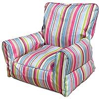 Bean Bag Sofa Stripe Pink Blue