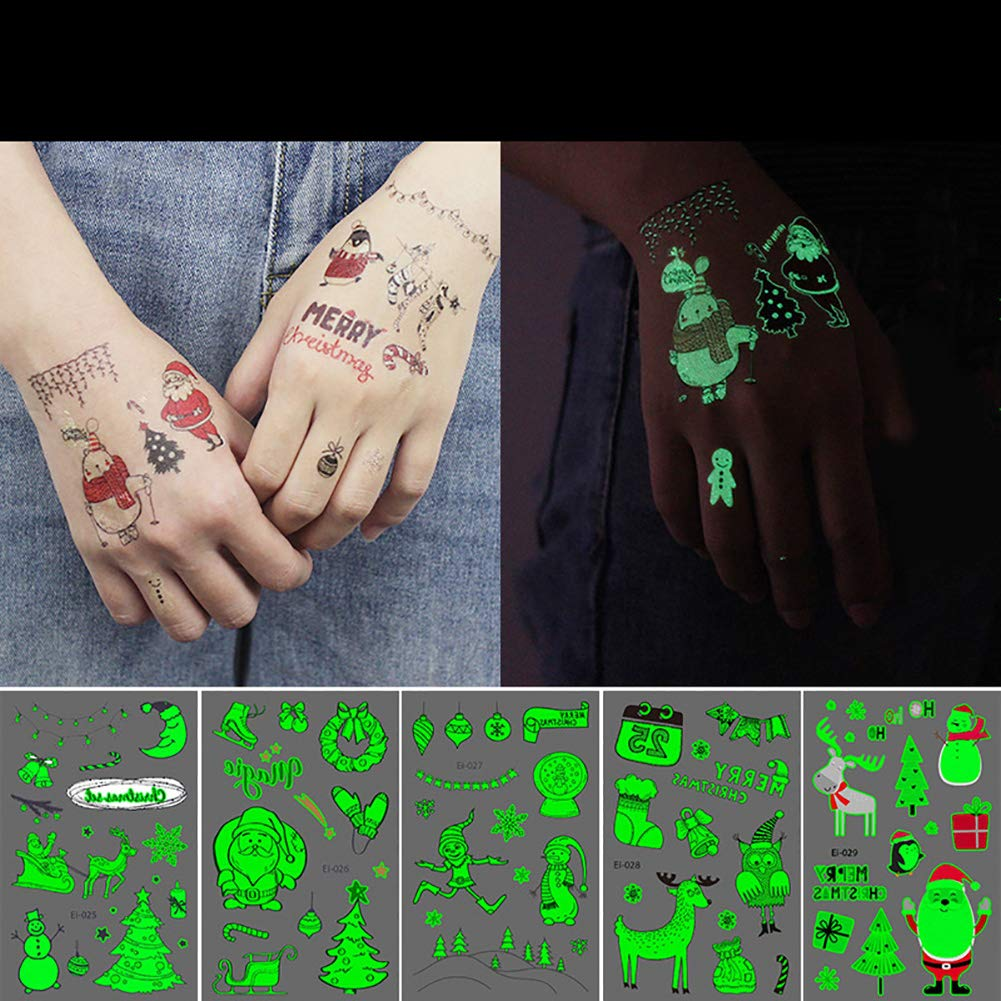 Cozywind Etiquetas Engomadas Luminosas Impermeables del Tatuaje ...