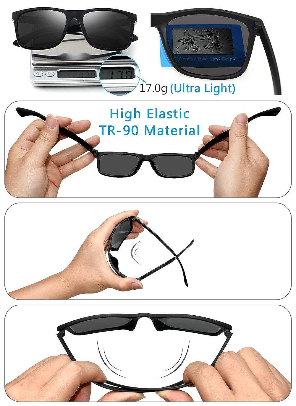 Amazon.com: Gafas de sol polarizadas para hombre, TR90 ...
