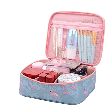 ae358ed21296 Yeelan Travel Cosmetic Bag Portable Make Up Case Pouch Waterproof Toiletry  Organizer Multifunction Journey Storage