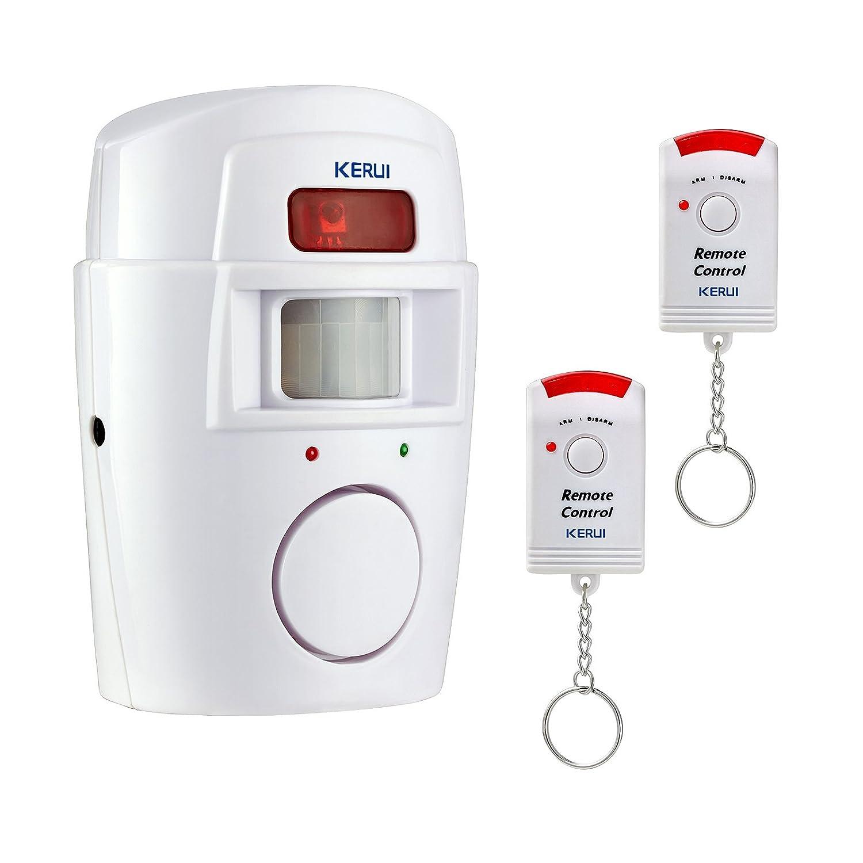 Kerui Alarma inalámbrica por infrarrojos, sensor de movimiento, sirena de 105 dB, sistema de seguridad para casa