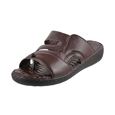 aa937517b77c6 Metro Men Black Leather Sandals (16-8888) 16-8888-11-BLACK  Buy Online at  Low Prices in India - Amazon.in