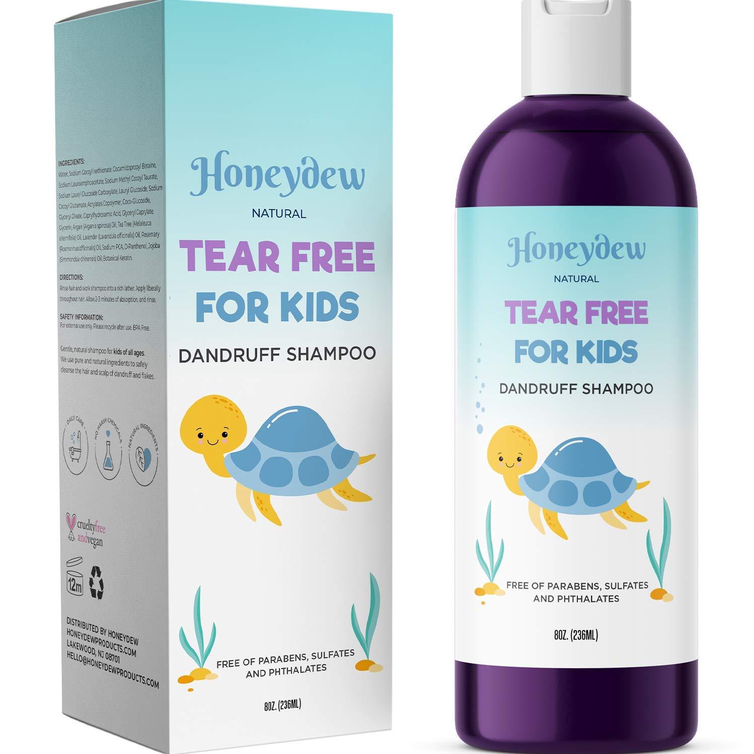 Anti Dandruff Shampoo for Kids, Best Tear Free Natural Children's Scalp Treatment with Lavender