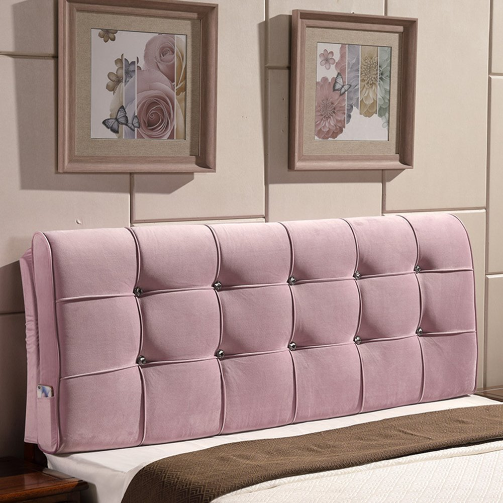 General Vercart Sofa Bed Large Upholstered Headboard Filled Triangular Wedge Cushion Bed Backrest Positioning Support Pillow Reading Pillow Office Lumbar Pad with Removable Cover Dusty Pink 79 Inches