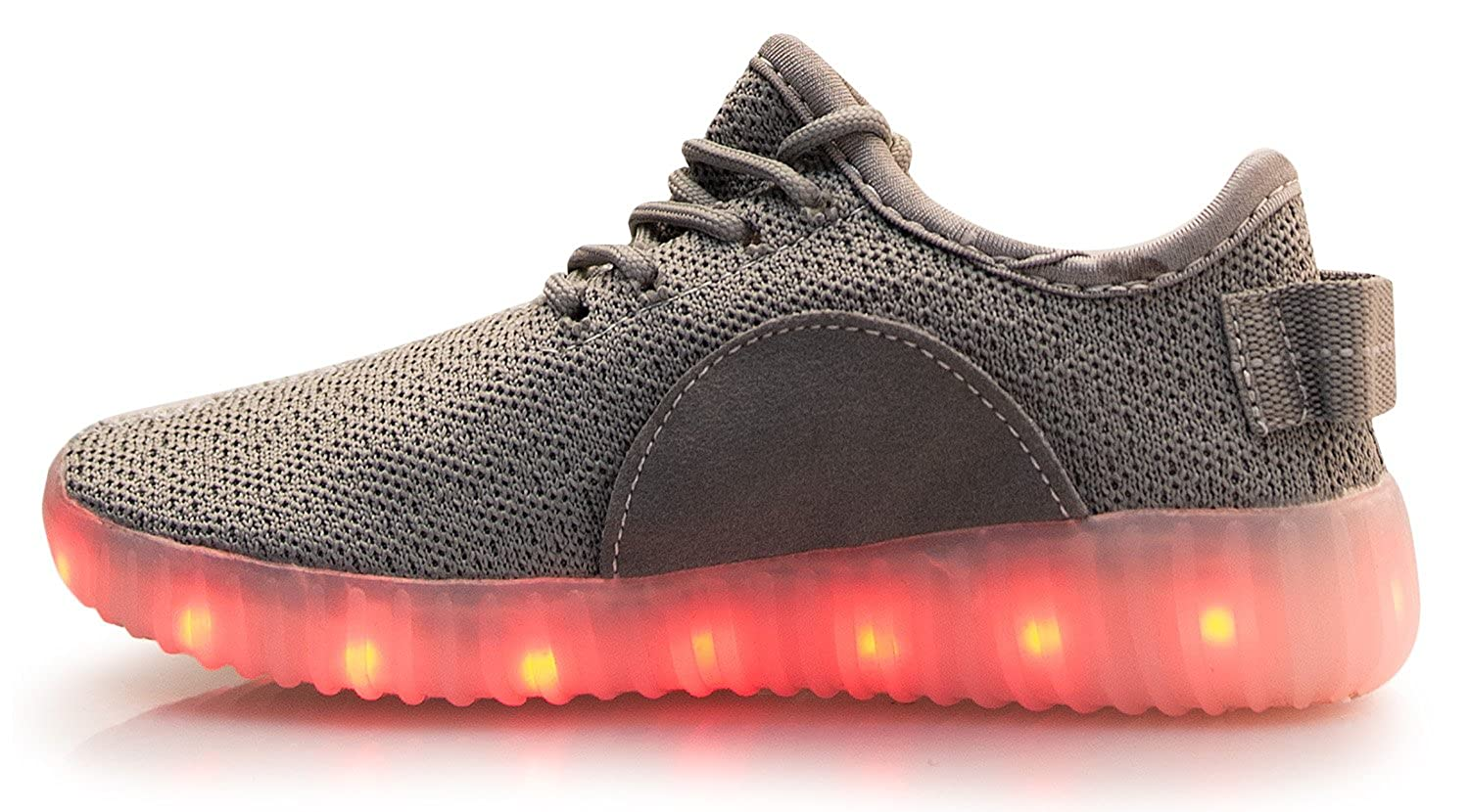 OLIVIA K Kids Girls Boys Casual Led Light Up Shoes 7 Colors 4 Mode Flashing Rechargeable Sports Sneakers