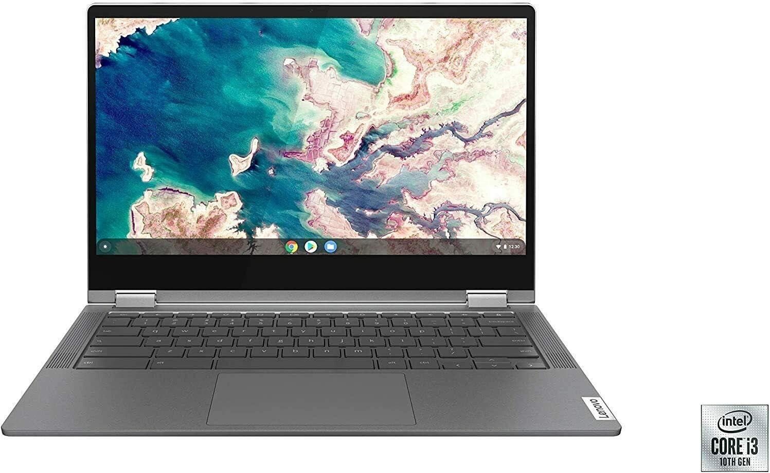 "Lenovo Chromebook Flex 5 13"" FHD IPS Touchscreen 2-in-1 Laptop, Intel Core i3-10110U, 4GB DDR4, 64GB eMMC, MicroSD Card Reader, Webcam, WiFi,BT, Backlit Keyboard, Chrome OS/ GCube 64GB Micro SD Card"