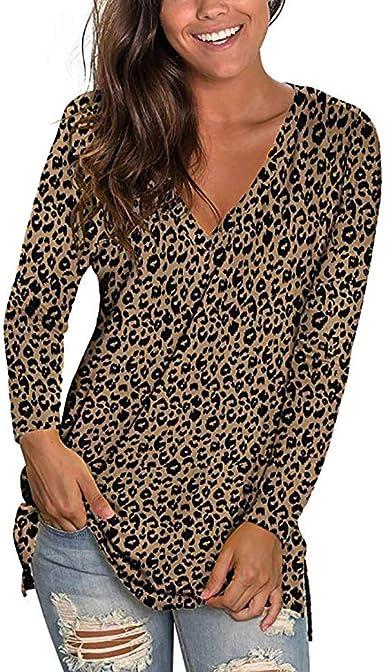 Rishine Womens Casual T-Shirt Long Sleeve Button Collar Long Top Sweatshirt Top