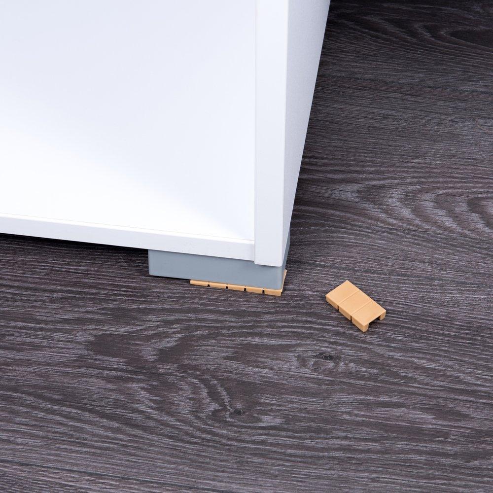 100 x Cu/ñas para muebles//calces cu/ñas de compensaci/ón de pl/ástico con puntos de rotura integrados Sossai/® MKB-100 Color : Beige