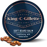 King C. Gillette Soft Beard Balm, Deep Conditioning with Cocoa Butter, Argan Oil and Shea Butter