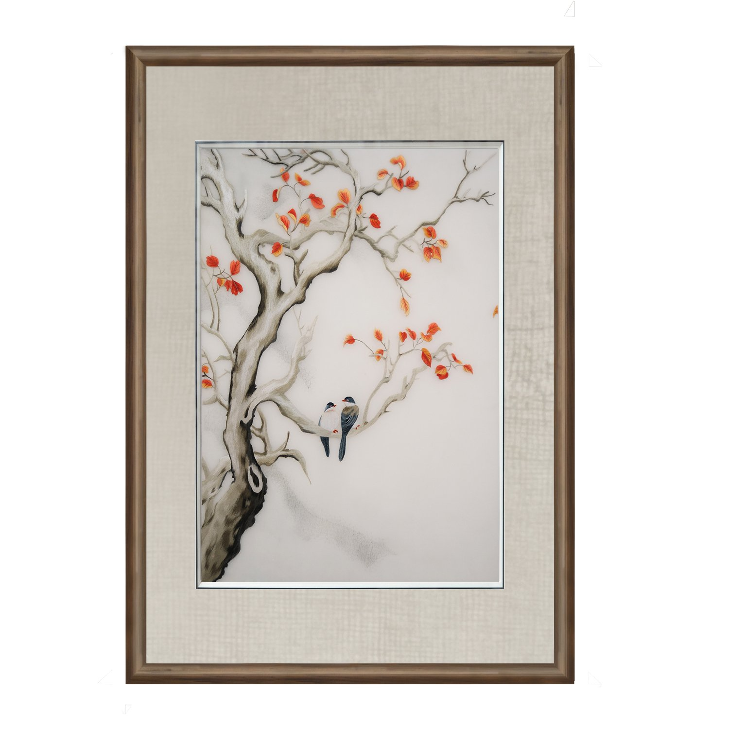 Vivi min 100% Handmade Embroidery Chinese ink painting Framed Modern Artwork Hanging Wall Decoration Souvenir Christmas gift Fashion collectible Gift Painting art