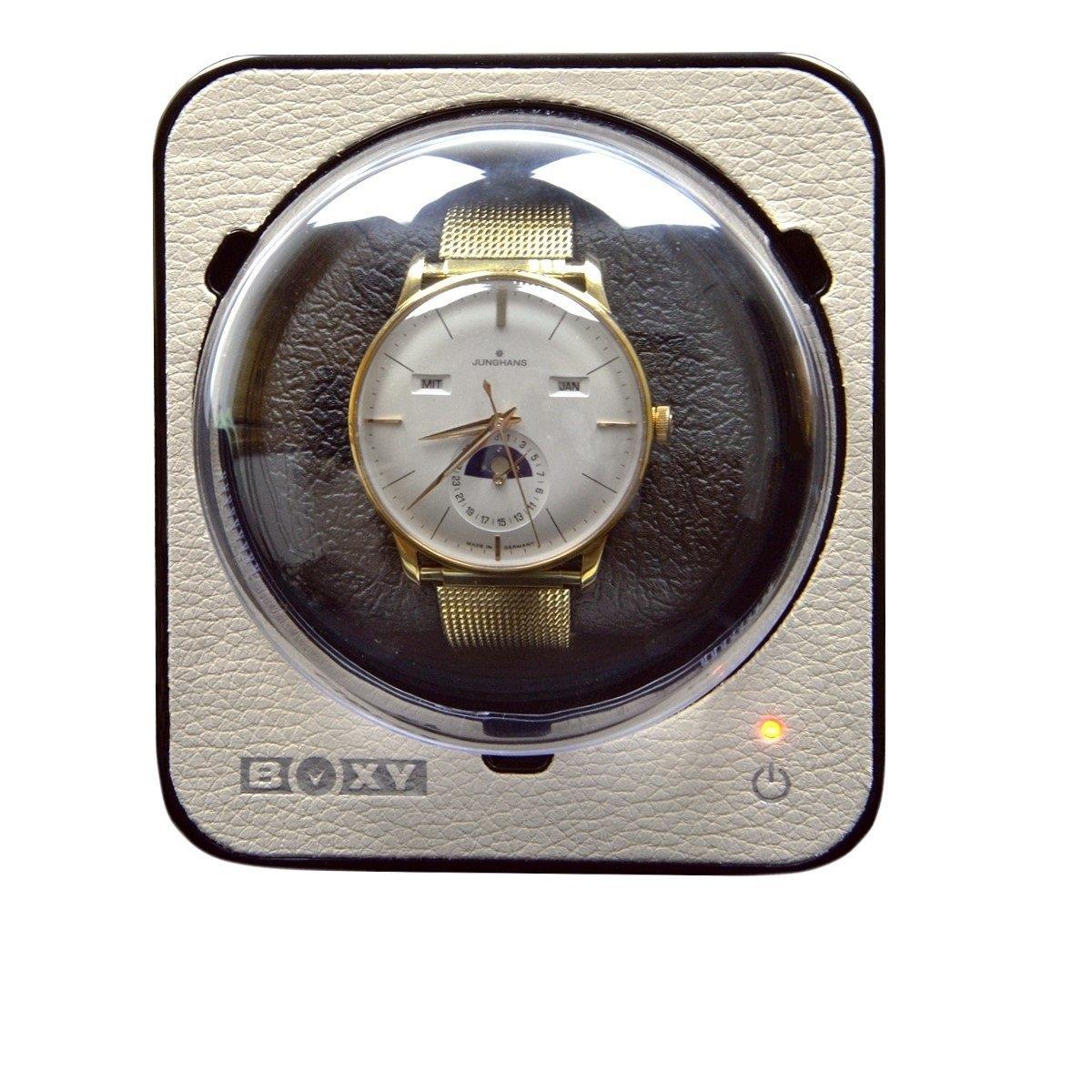 Scatola ricarica orologi Beco Technic BOXY FANCY PU-CUOIO crema