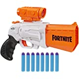 NERF Fortnite SR Blaster -- 4-Dart Hammer Action -- Includes Removable Scope and 8 Official Elite Darts -- for Youth…