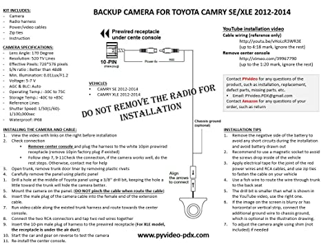 71XqVshiktL._SX466_ amazon com pyvideo toyota camry se and xle integrated backup  at reclaimingppi.co