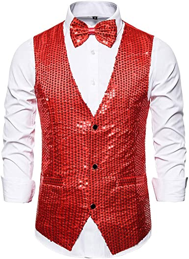Time Cover – Chaleco de traje para hombre, con lentejuelas, de secado rápido, camiseta de fitness para exterior, camiseta de entrenamiento rojo XXL: Amazon.es: Ropa y accesorios