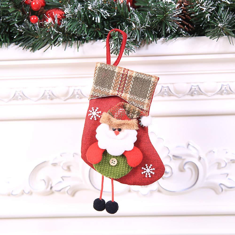 Amazon.com: SMTSMT_socks Christmas Stocking Mini Sock Santa Claus ...