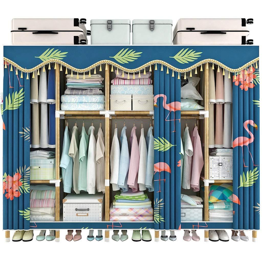 Hai Yan Boutique Cloth Wardrobe Cloth Wardrobe Assembly Wardrobe Storage Clothes Cabinet Coat Rack Hanger by Hai Yan