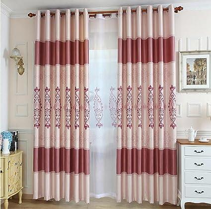 Cortinas Tela Cortina Bordada Moderna Simple De La Cortina De La - Tela-para-cortina