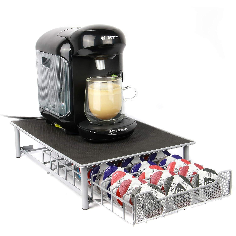 Maison & White Tassimo 60 Pod Holder | Cajón de cápsulas y soporte para máquina de café Gris: Amazon.es: Hogar