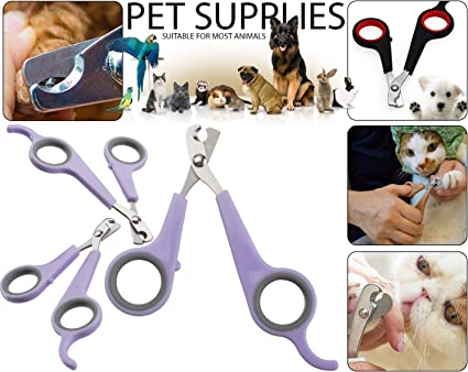 Pet Animal Dog Cat Bird Grooming Nail Clipper Scissors Trimmer Nail File Kit