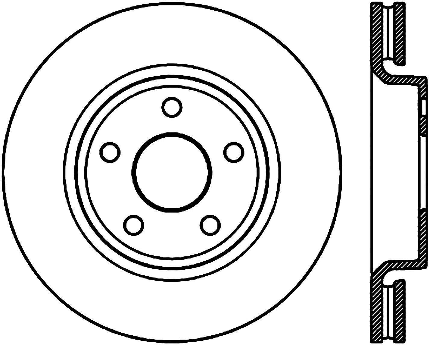 Centric C-Tek Brake Rotor 121.58006