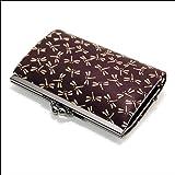 印傳屋 印伝 がま口 1401 レディース ( 女性用 ) 本革 二つ折り 財布 札入れ 日本製 和風 和柄 通販 ギフトに