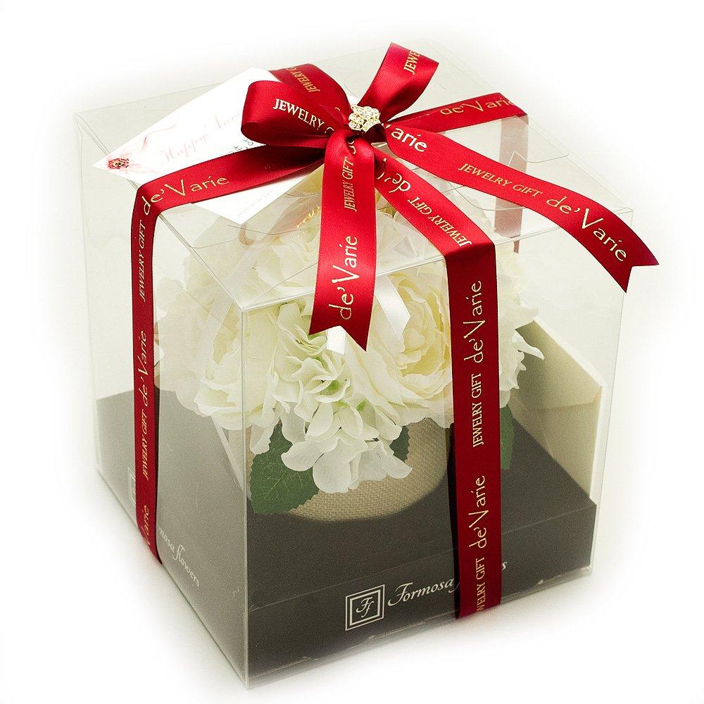5月誕生日プレゼント 花 女性 人気 母の日ギフト 雑貨 結婚記念日 贈り物 フラワー バラ 人感センサー ラッピング付 ギフト お見舞い 贈り物 hb-w B06XHZ9SGR ホワイト ホワイト