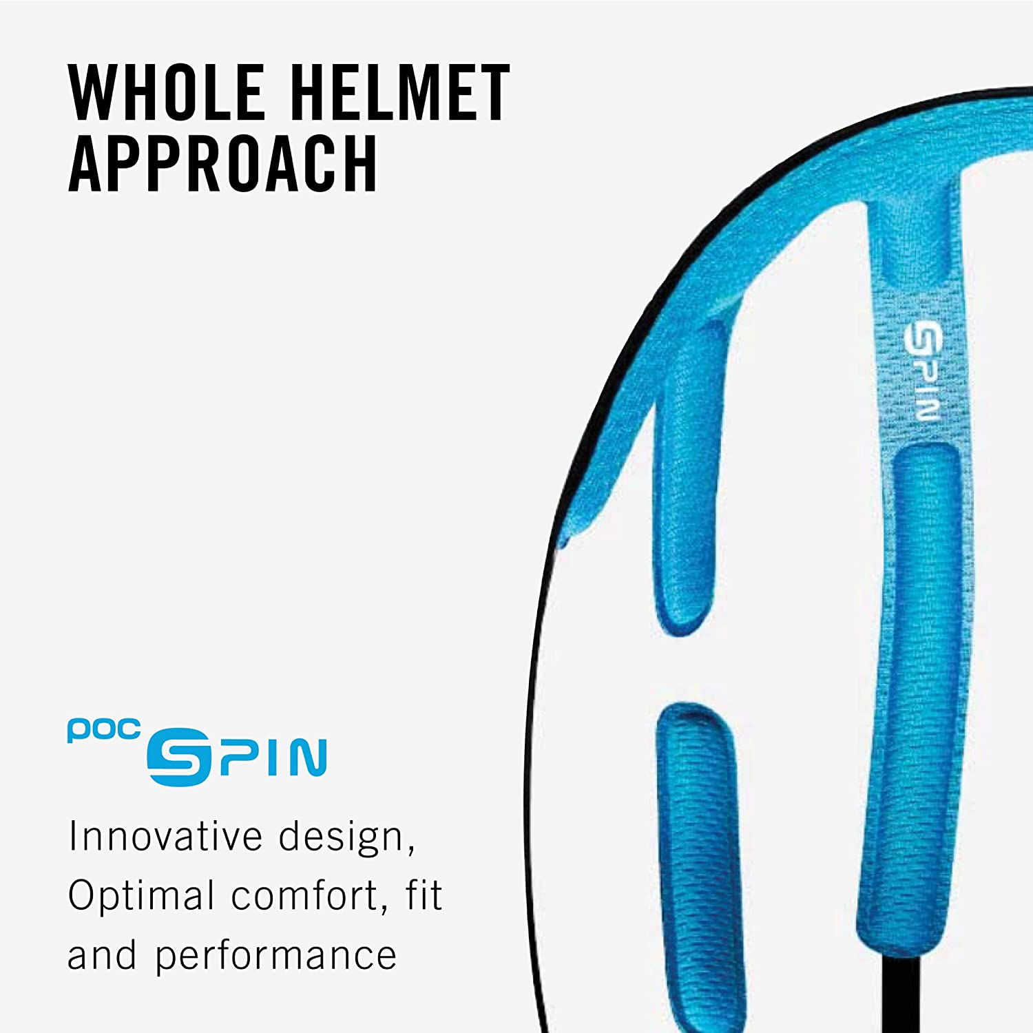 Hydrogen White Raceday L POC Ventral Spin Cycling Helmet