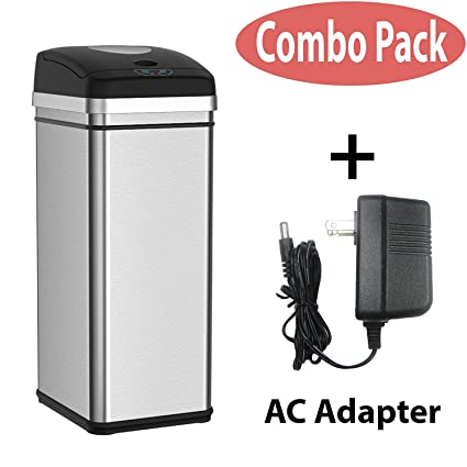 Bon Halo 13 Gallon Touchless Trash Compactor Automatic Trash Can, Stainless  Steel Sensor Kitchen Trash Can