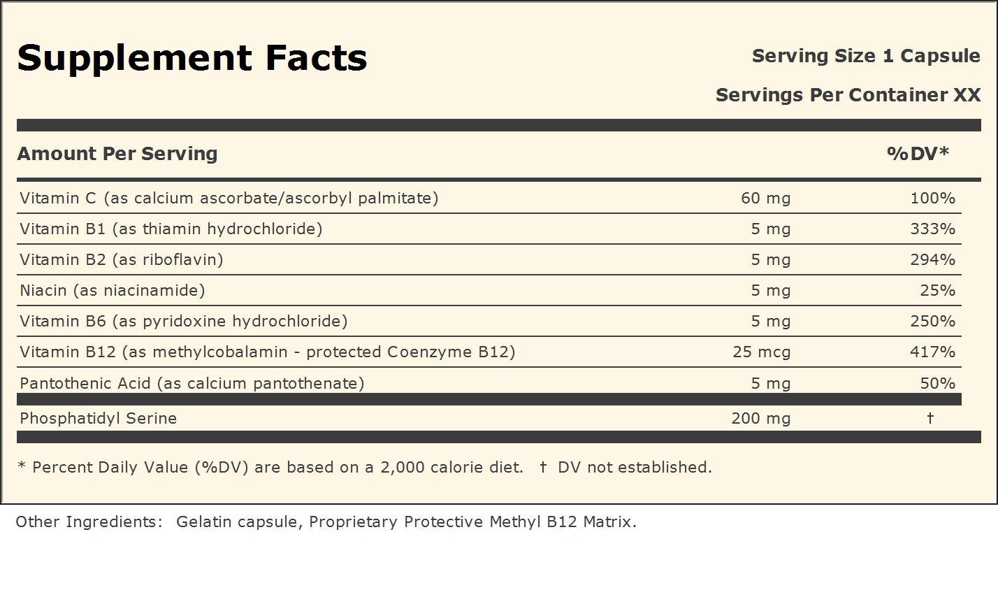 Amazon PS 200 Phosphatidyl Serine 30 Capsules Health Personal Care