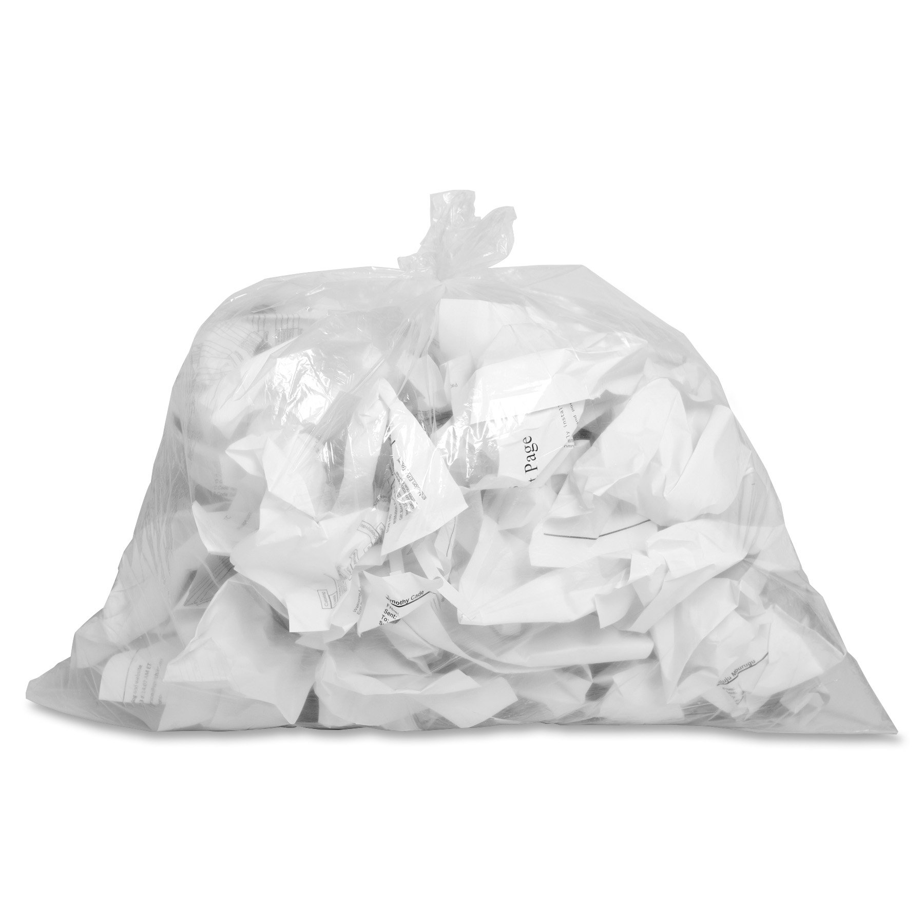 Genuine Joe GJO01010 Low-Density Trash Can Liner, 10 gallon Capacity, 24'' Length x 23'' Width x 0.60 mil Thickness, Clear (Box of 500)