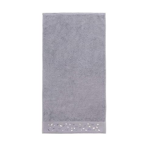 Sancarlos Piedras Toalla, 100% algodón Rizo, Gris, 50x100 cm