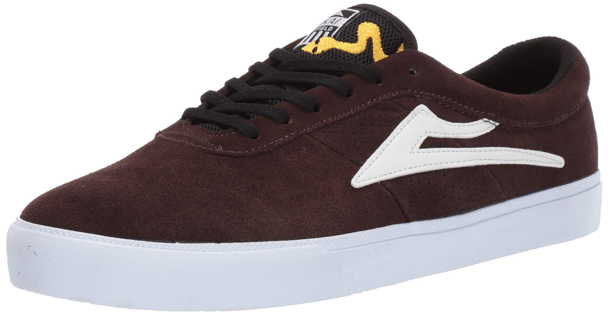 Lakai Footwear Sheffield Simon Chocolate SuedeSize 7 Tennis Shoe Suede, 7 Standard US Width US by Lakai